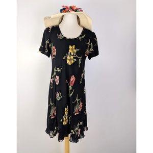 Liz Claiborne Black Floral Dress